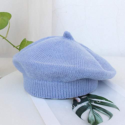 FGHOMEYWBLM Autumn Winter Woolen Knit Painter Hat Small Round Hat Wild Beret