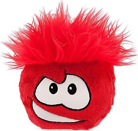 Penguin Disney Club Game (Disney Club Penguin 6 Inch Deluxe Plush Puffle Red Includes Coin with Code!)