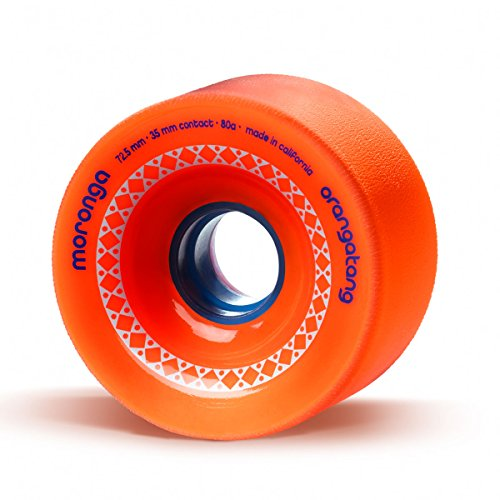 Orangatang Moronga 72.5 mm 80a Freeride Longboard Skateboard Wheels (Orange, Set of 4)