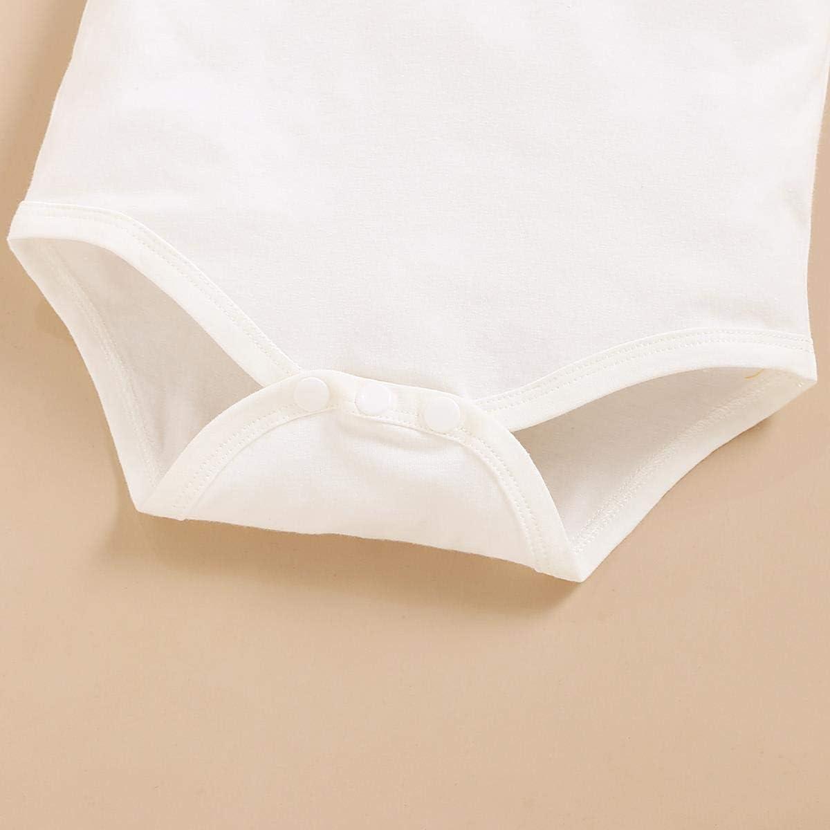 FYMNSI Baby S/äugling M/ädchen Sommer Bekleidungsset Herzform /Ärmellos Top T Shirt Shorts mit Stirnband 3tlg Sommer Kleidung Set f/ür 0-24 Monate