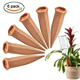 Self Plant Watering Spikes, Celover Self Watering Stakes,Plant Watering Globes of Premium Terracotta and Ceramics, Self Irrigation Watering Devices Caring for Your Plants, Plant Waterer (6)