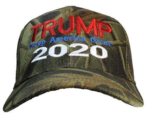 Tropic Hats Adult Camouflage Embroidered Trump 2020 Keep America Great Cap - Hardwoods Camo