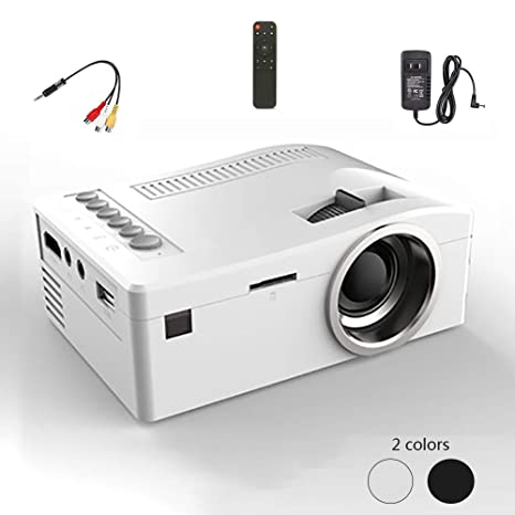 WOWOGA Mini proyector, Lente de Enfoque LED HD Proyector ...