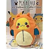 Pokemon XYZ Pikachu in Charizard Sleeping Bag Nebukuro Plush Pouch [Banpresto]