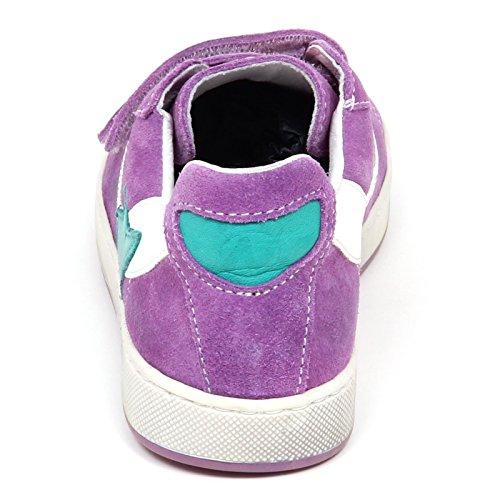 Kid Scarpe Viola Suede Vintage Naturino E2570 Shoe Girl Effetto Chiaro Sneaker Bimba gqRanzp