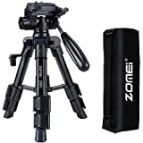 Mini Tripod for Camera,Zomei Travel Table Tripod with 3-Way Pan/Tilt Head 1/4 inches Quick Release Plate and Bag for DSLR Cam