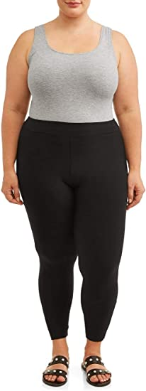 Black Soot Super Soft Sueded Plus Size Generous Fit Full Length Legging