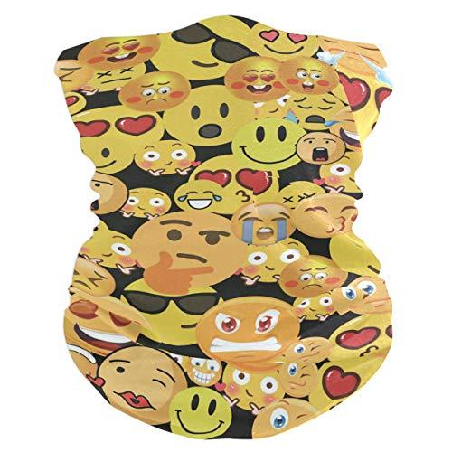 Neck Gaiter, Headwear, Face Sun Mask, Magic Scarf, Seamless Emoji Headband for Cycling, Running, Skateboarding]()