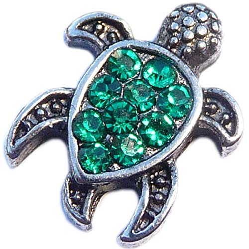 Sea Turtle with Green Accents Floating Locket Charm