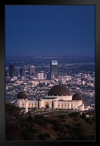 Griffith Park Observatory and Los Angeles Skyline Photo Art Print Framed Poster 14x20 ()