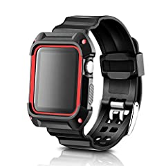 "Parameter and Feature: Weight: 22g Case Size: 40mm * 54mm Length: 260mm (fits 5.8""-8.6"" wrist) Materials: silicone & PC + TPU case (frame) Metal Buckle Material: 316L stainless steel Applicable crowd: Women  Compatibility: Compatible with..."