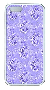 IMARTCASE iPhone 5S Case, Blue Tie Dye Seamless Case for Apple iPhone 5S/5 TPU - White