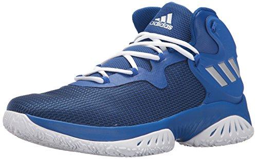 adidas Men's | Explosive Bounce Basketball Shoes, Collegiate Royal/Metallic Silver/Blue, ((10 M US)