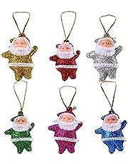12 pc Cute Christmas tree Decoration Pendant Santa Clause Bear Snowman Elk Doll Hanging Ornaments Christmas Decoration for Home