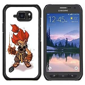 LECELL--Funda protectora / Cubierta / Piel For Samsung Galaxy S6Active Active G890A -- el pelo del fuego juegos pc héroe juego de caracteres --