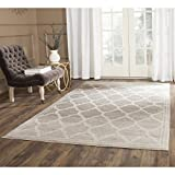 Cheap Safavieh Amherst Collection AMT415B Light Grey and Ivory Indoor/Outdoor Area Rug (5′ x 8′)