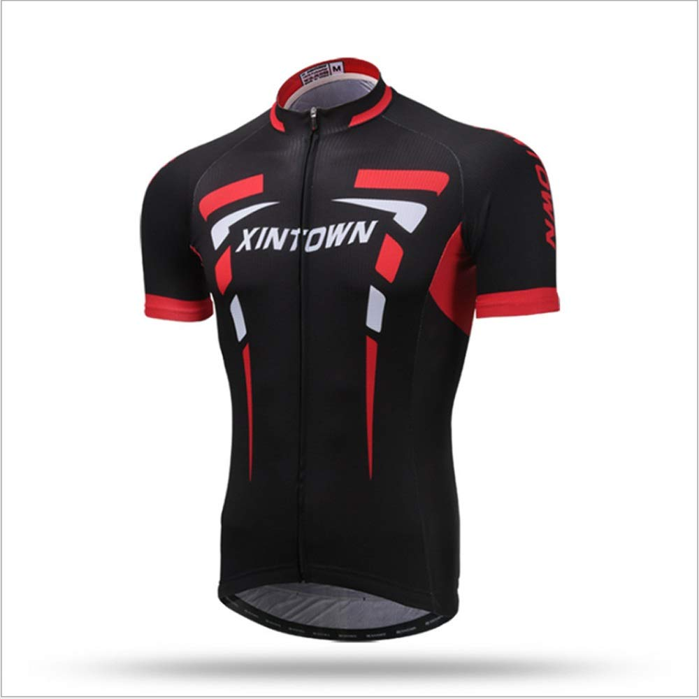 Unkoo Tops Summer Outdoor Lightweight Riding Breathable Short-Sleeve Antibacterial Mesh Panels Shirt Short Jacket Men Sun-protective UV Protection Cycling Jersey Short Sleeve Jacket Bicycle Shirts