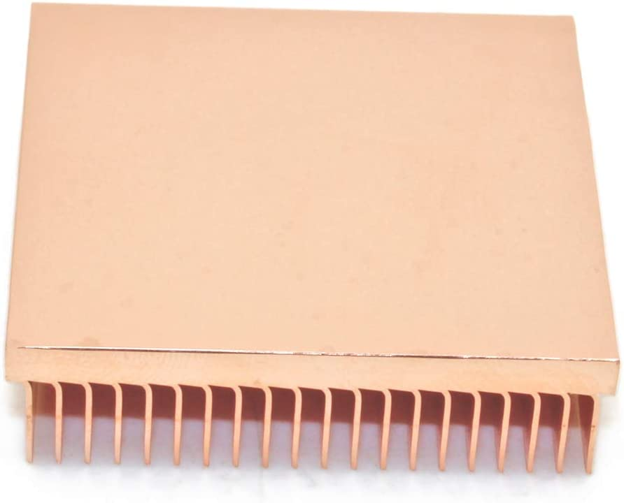 DIY Pure Copper Skiving Fin Heatsink 40x40x10mm 1.57x1.57x0.39 inches for Electronic Chip IC Cooling