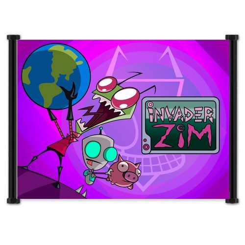 Invader Zim Cartoon Fabric Wall Scroll Poster  Inches