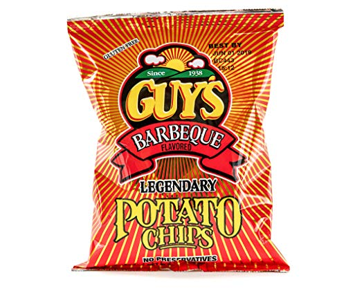 (Guys BBQ Potato Chips - Barbecue potato chip with a unique blend of spices w/Legendary Taste - Chip and Dip in One Crunch Make Tasty Guy Snacks, Bulk Office Snacks 24 (1.5 oz Bags))