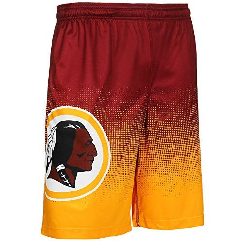 Nfl Team Logo Football - FOCO NFL Washington Redskins Football Team Logo Gradient Big Logo Training Shorts, Team Color, Large