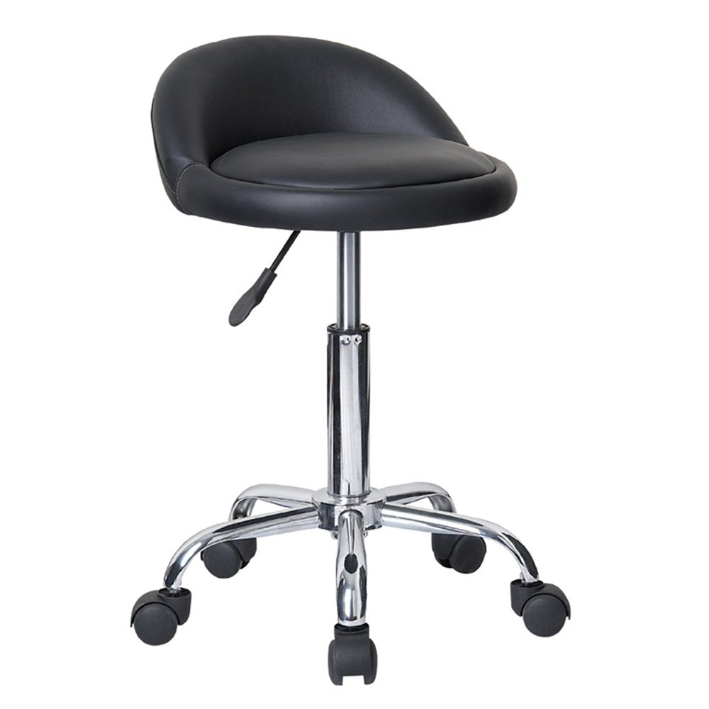 vanity chair on wheels. Amazon com  Juno Adjustable Height Massage Stool w Wheels Kitchen Dining