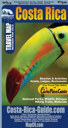 By Ray Krueger Koplin Waterproof Travel Map of Costa Rica (4th Fourth Edition) [Map]