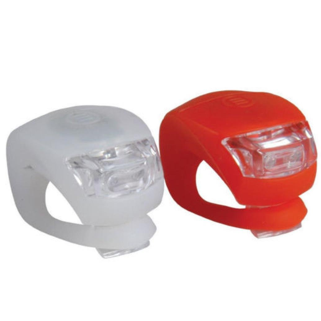 2PC Bicycle Bike LED Cycling Silicone Head Front Rear Wheel Safety Light Lamp