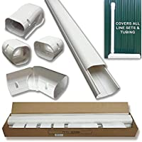 Hide-A-Line 4 14 Ft Mini split and Central Air Conditioner & Heat Pump Line Set Cover Kit Decorative Tubing Cover