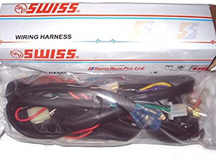51AlTUJqNjL._SX438_ bikzspare wiring harness splendor ks swiss amazon in car & motorbike swiss wiring harness price list at bayanpartner.co