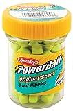 Berkley Powerbait Biodegradable Trout Nibbles Soft Bait, Chartreuse, 1.1-Ounce