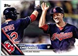 2016 Topps Series 2 #594 Lonnie Chisenhall Cleveland Indians Baseball Card in Protective Screwdown Display Case