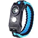 Best Survival Bracelets - Paracord Survival Bracelet 6-IN-1 - Hiking Gear Traveling Review