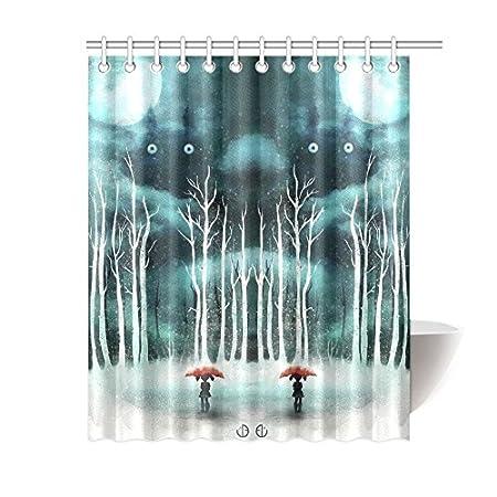 Shower Curtain Miss2 Ghibli Totoro DIY Custom Waterproof Polyester Standard Size 66X72