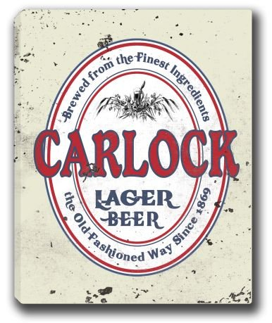 CARLOCK Lager Beer Stretched Canvas Sign 16' x 20'