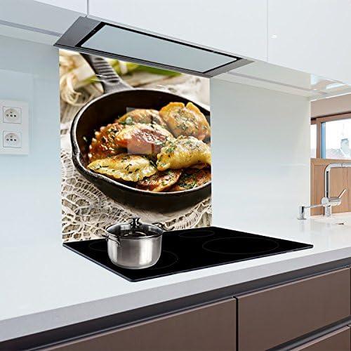 Cuisine Dosseret en verre résistant à la chaleur en verre trempé 60x 65cm Graphic N ° 2322