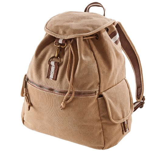 Quadra Vintage Canvas Backpack - 18 Liters (One Size) (Sahara)