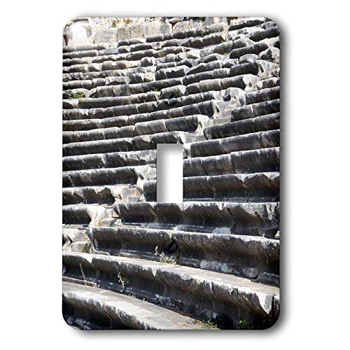 3dRose Danita Delimont - Turkey - Turkey, Anatolia, Aydin Province, ruins of Miletus. Theater seats. - 2 plug outlet cover - Amphitheater Ruins