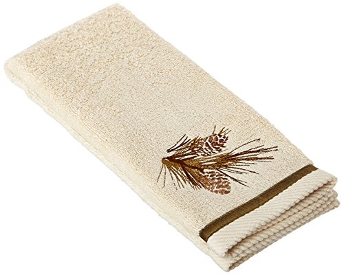 (Bacova Guild Pine Cone Silhouettes Hand Towel Designed by Cynthia Coulter)