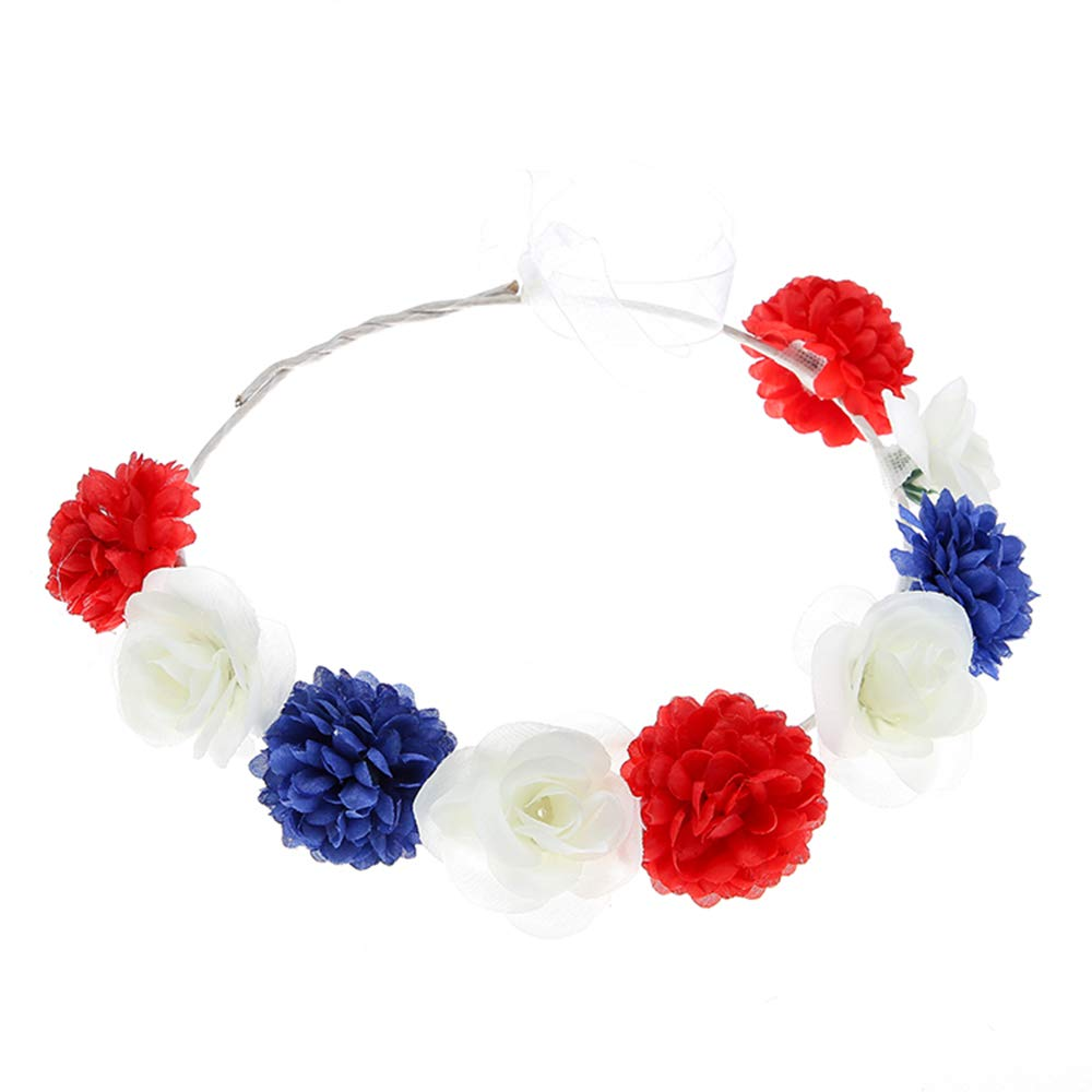 July 4th headband Floral Crown Hair Accessories Gift for her 4th July accessories Wedding Gift for Women Christmas gift Anniversary gifts
