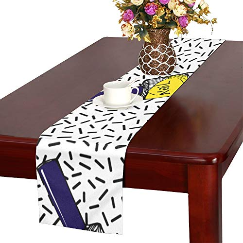 (WHIOFE Nail Polish Color Hand Painted Art Fashion Table Runner, Kitchen Dining Table Runner 16 X 72 Inch for Dinner Parties, Events, Decor)
