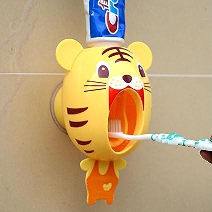 1 pc bebé cepillo de dientes dispensador manos libres pasta de dientes exprimidor 10.8 * 9.7