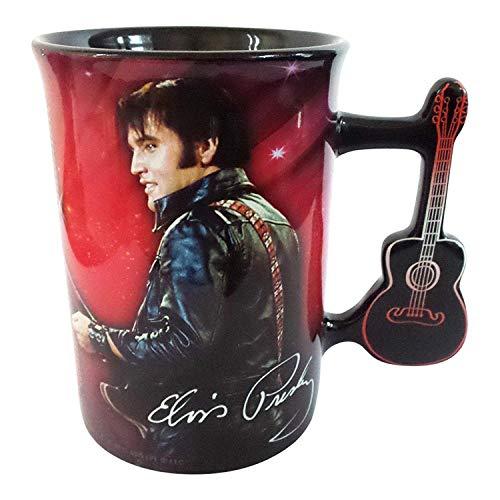 Elvis Presley Mug with Guitar Handle by Midsouth (Elvis Presley Coffee)