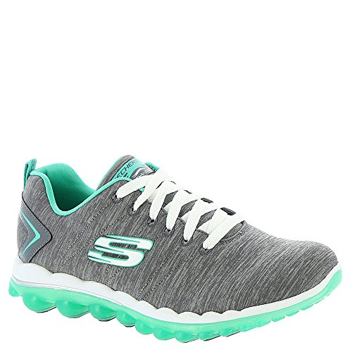 Skechers Sport Women's Skech Air Run High Fashion Sneaker (7.5 B(M) US, Charcoal/Green)