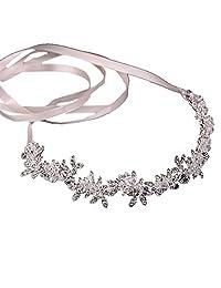 Handmade Crystal Bridal Wedding Hair Piece Floral Wedding Pieces Rhinestone Leaves Wedding Hair Jewelry