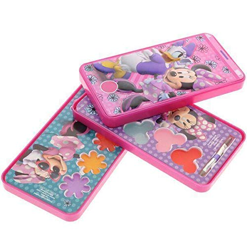 Minnie Mouse Makeup Ideas (Minnie Mouse Super Sparkly Lipgloss Set With Gift Tag, Minnie Mouse And Daisy Cell Phone Slide Out Lip Gloss Makeup Cosmetic Set Case, Cosmetics Kit For Kids, Christmas And Birthday)
