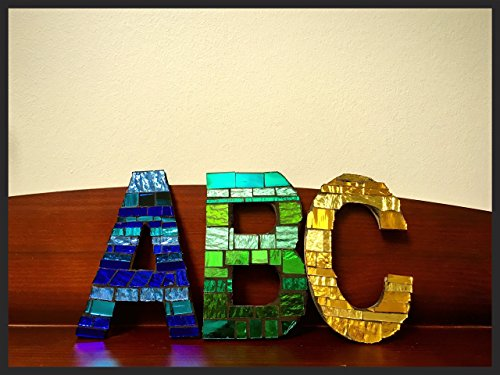 Mosaic Mirrored Tile Letters and Numbers