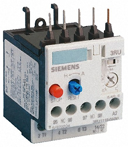 Siemens 3RU11 16-1HB0 Thermal Overload Relay, For Mounting Onto Contactor, Size S00, 5.5-8A Setting Range ()