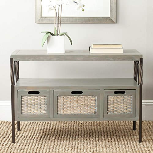 Safavieh American Homes Collection Joshua French Grey 3-Drawer Console Table ()