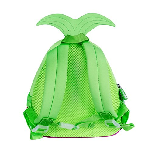 School 3D Animal Cat Kids Toddler Backpack Preschool Cute Waterproof Green Bag Alnaue Children w1qz4B